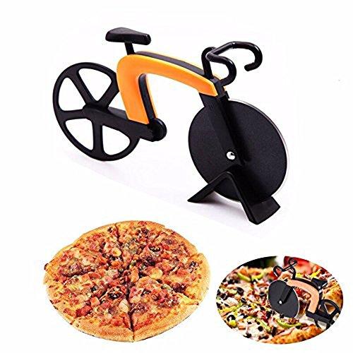 dorsion Bicicletta Tagliapizza in Acciaio Inox Rotella Per Pizza, Yellow & Black, 1 pezzo