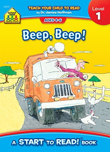 School Zone - Beep, Beep!, Start to Read!® Book Level 1 - Ages 4 to 6, Rhyming, Early Reading, Vocabulary, Simple Sentence Structure, Picture Clues, and More (School Zone Start to Read!® Book Series)