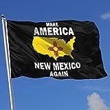 Elaine-Shop Bandiere per Esterni Rendono l'America New Mexico di Nuovo Bandiera 4 * 6 Ft per la Decorazione Domestica Appassionato di Sport Calcio Pallacanestro Baseball Hockey