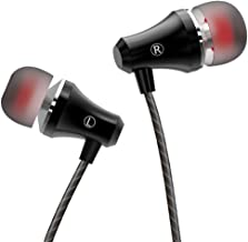VddSmm Earphones Stereo in Ear Earbuds Headphones with Microphone and Volume Control 3.5 mm Plug Compatible Multiple Audio Device Black