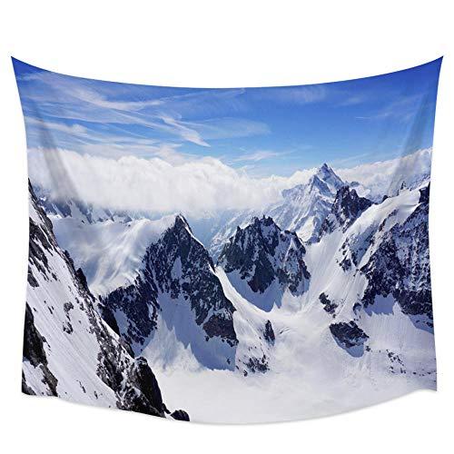 Decoración de pared Snow Mountain Landscape Tapiz de pared Cubierta Toalla de playa Picnic Yoga Mat Decoración del hogar 150x100CM 150x100CM