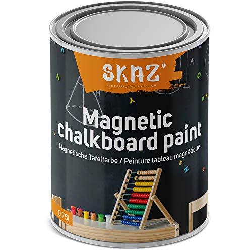 2 in 1 Magnetische Tafelfarbe allergikerfreundliche magnetische Wandfarbe für Innen , perfekt fürs Kinderzimmer, schwarz