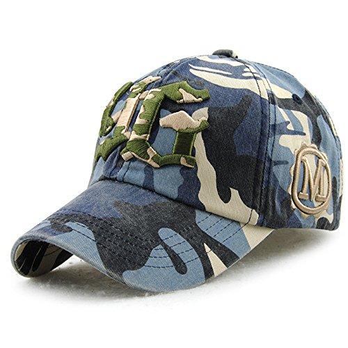 Sombrero de Gorra de bisbol de Camuflaje de algodn Moda Casual Hombres y Mujeres Letras de Sombrero para el Sol al Aire Libre