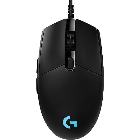 Logitech G PRO Ratón Gaming con Cable, Captor HERO 25K, 25,600 DPI, RGB, Peso Ultra Reducido, 6 Botones Programables, Memoria Integrada, PC/Mac - Negro