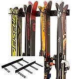 StoreYourBoard Ski Wall Storage Rack, 2 Pack Holds 16 Pairs,...