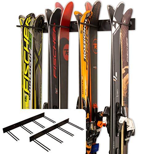 StoreYourBoard Ski-Wandhalterung, 2er-Pack für 16 Paar Skihalterungen für Heim- und Garagenskier aus Stahl