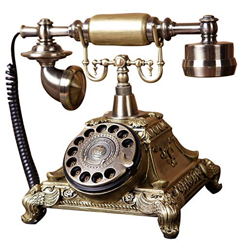 Klassieke Italiaanse Aristokracia retro intercominstallatie telefoon vaste mechanische knop metaal draaiing machine en elektronica beltonen handsfree bellen oproepen retour zonder batterij brons, Ringtones, Metaal
