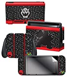 Controller Gear Nintendo Switch Skin & Screen Protector Set, Officially Licensed By Nintendo - Super Mario Evergreen 'Bowser Silhouette' - Nintendo Switch