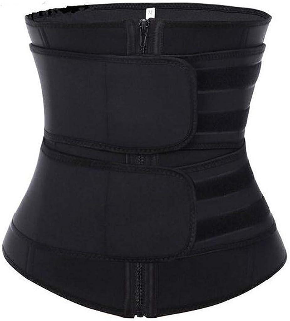 QTOCIO Womens Waist Trainer, Women's Latex Waist Trainer Corset Zipper Vest Shapewear Slimming Sports Girdle