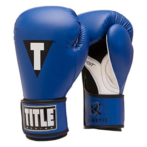 Title Boxing Kinetic Aerovent Boxing Gloves, Blue/Black, 14 oz