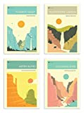 4 Art-Posters 20 x 30 cm - American National Parks -