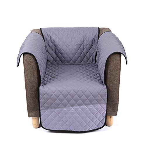 Love House Wasserdicht Sofa Überwurf Sofabezug, Gesteppter Anti-rutsch Couch-Schild Mit elastischen Riemen Sofa Throw Für Kinder,Haustiere-grau 260x180cm(102x71inch)