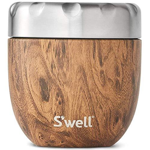 S'well Unisex – Contenedor de alimentos para adultos, madera de teca, 470 ml