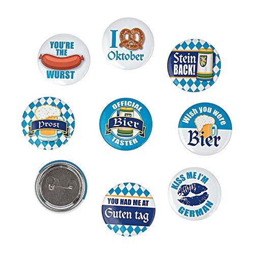Oktoberfest pins/buttons (24 pack )