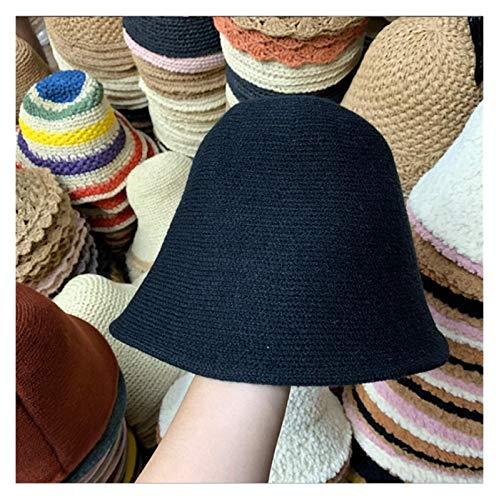 sanshi Sombrero De Cubo Otoño E Invierno Cuenca Sombrero Cálido Lana Salvaje Hecha Punto De Pescador Sombrero Personalizado Zzzb (Color : A)