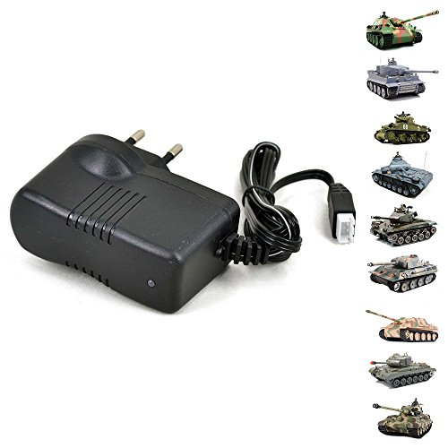 Original Ladegerät Charger für 7.4V Li-Ionen Akku von Heng-Long Panzer Modellen, Tiger I, Bulldog, Panther, Leopard, Pershing, Königstiger, usw.. Ersatzteil, Modellbau, Neu