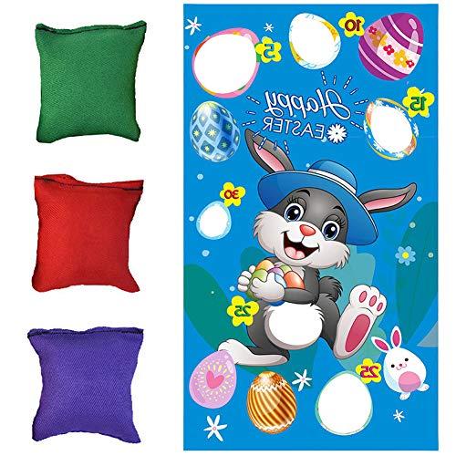 Ostern werfen Spiele Banner Spiel Werfen Flagge Ostern Hasen Werfen Spiel Hängen Sitzsäcke Spiel Banner für Kinder Erwachsene Ostern Party Aktivitäten