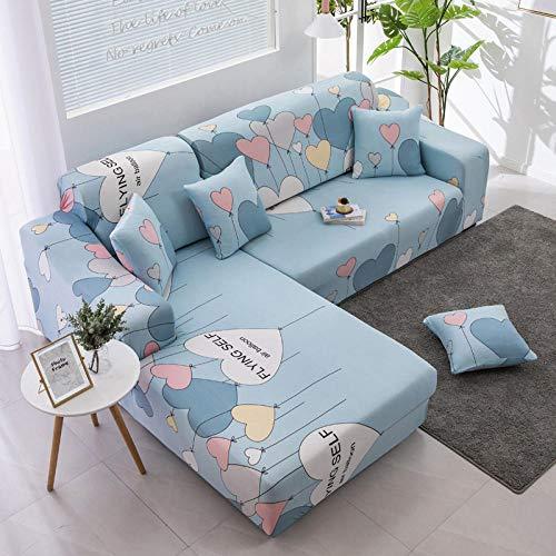 B/H Lavable/Antiácaros Funda de sofá,Funda de sofá elástica con Funda Completa, Funda de sofá Simple Antideslizante-Y_190-230cm,Sillón Elastano Fundas de Sofá