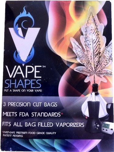 Tokeez Vape Shapes - Marijuana Leaf Shaped Vaporizer Bags