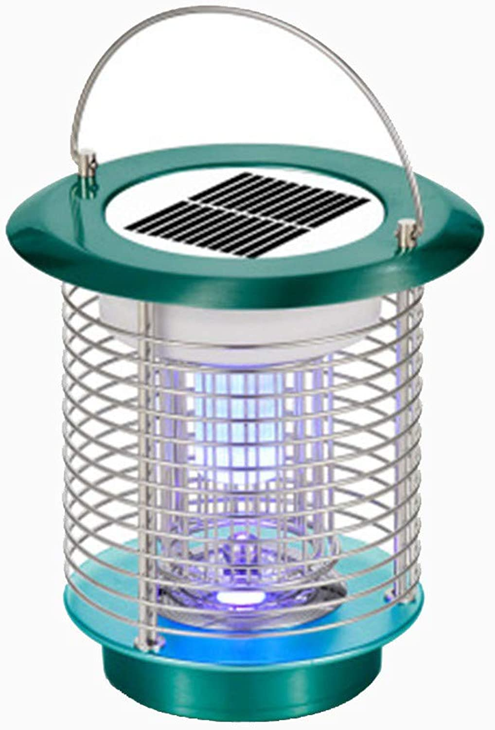 Solar Mosquito ZapperDUDUMEN Waterproof Solar Powered LED Light Pest Zapper Insect Mosquito Killer- Hang Stake in The Ground Garden Lawn Residential, Commercial, Industrial,House Farm (Green)