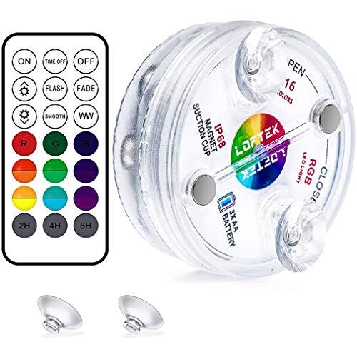 LED Tauchleuchten,Unterwasser Licht mehrfarbige RGB-13-LED-Perlen mit RF-Fernbedienung, Wasserdichtes LED Licht für Vase Base Party, Weihnachten, Schwimmbad, Hochzeit