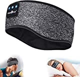 MUSICOZY Sleep Headphones Bluetooth Headband, Wireless Music Sleeping Headphones Noise Cancelling Sleep Mask Earbuds IPX6 Waterproof with Mic for Side Sleepers Workout Running Insomnia Travel Yoga