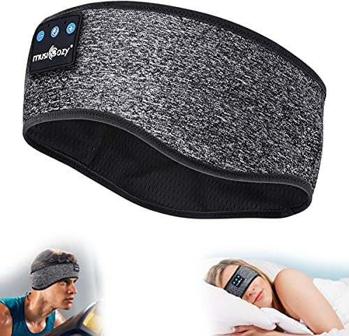 MUSICOZY Sleep Headphones Bluetooth Headband,...