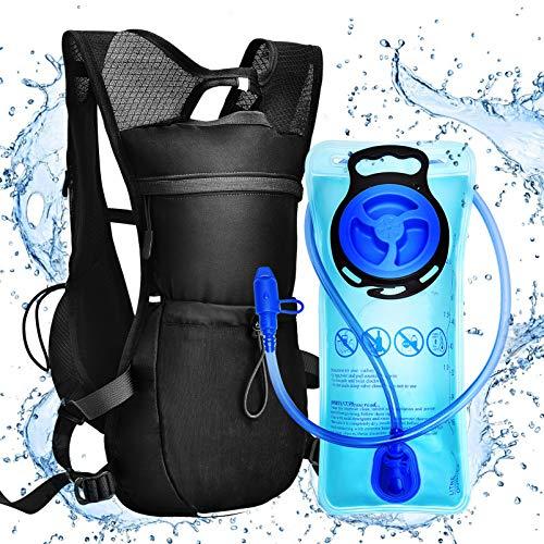 VBG VBIGER Mochila de hidratación con bolsa de agua de 2 litros para senderismo, maratón, correr, carrera, ciclismo al aire libre, para mujeres y hombres