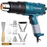 Heat Gun Kit 1500W with Dual-Temperature 5 Nozzles,Hot Air Gun 122ᵒF-1022ᵒF Heating in Seconds for DIY Shrink PVC Tubing/Wrapping/Crafts,Stripping Paint (1500W 2 Gears Temp Setting)