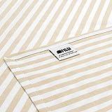 FILU Servietten 8er Pack Beige/Weiß gestreift (Farbe und Design wählbar) 45 x 45 cm – Stoffserviette aus 100% Baumwolle im skandinavischen Landhausstil - 2