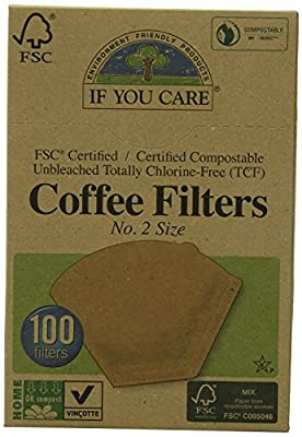 Pack of 1 x If You Care #2 Cone Coffee Filters - Brown - 100 Count