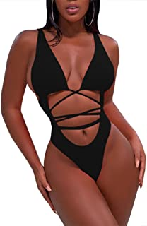 Sovoyontee Women's Sexy One Piece Swimsuits Bikini Bathing Suit