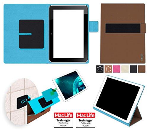 reboon Hülle für Hewlett Packard ElitePad 1000 G2 Tasche Cover Case Bumper | in Braun | Testsieger