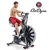 Schwinn Airdyne AD8 - Bicicletta da fitness professionale con resistenza all'aria, console LCD con display watt, programmi di allenamento HIIT, peso massimo utente 160 kg