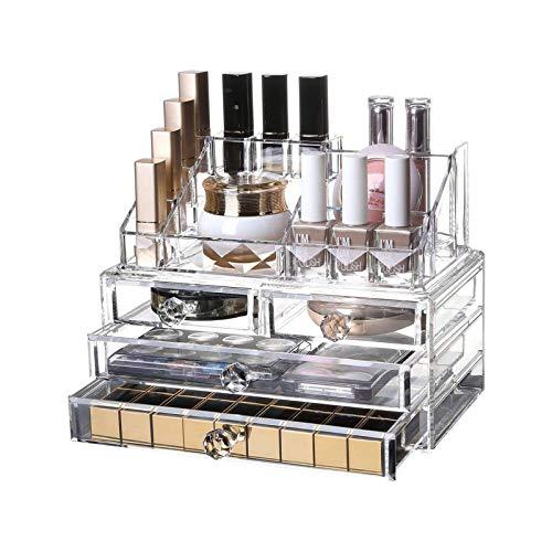 JJSFJH DREI-Schicht-Drawer Cosmetic Organizer Schubladen Plexiglas Jewellery Box...