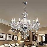 globalbuy 10 Lámparas Araña de cristal para el hogar Techo de cristal Luz para el hogar Lámpara colgante transparente(SJD-10)