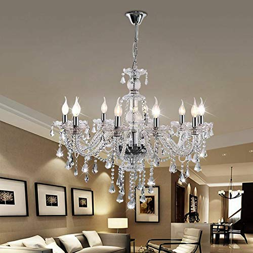 globalbuy 10 Lámparas Araña de cristal para el hogar Techo de cristal...