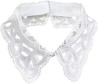 Gracelife Hollow Design Lapel False Collar Detachable Dickey Blouse Fake Half Shirt Collar for Women