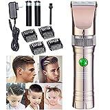 FZXXZF Professional Hair Elektro Haircut Kit Keramikklinge Akku Clipper Cordless Clippers...
