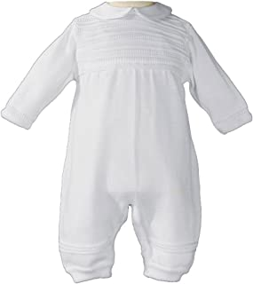 Little Things Mean A Lot Boys Cotton Knit Christening Outfit Christening Baptism Romper