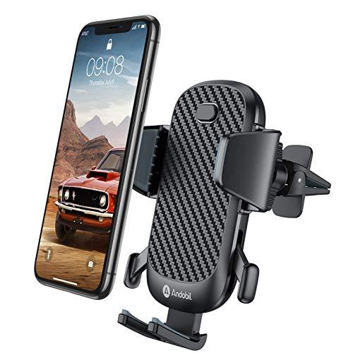 andobil Handyhalterung Auto Lüftung Handyhalter fürs Auto 2020 Patent Design mit 2 Lüftungsclips Smartphone kfz Halterung 360° Drehbar Handyhalterung für iPhone 11 11Pro Samsung S10 Huawei Xiaomi usw