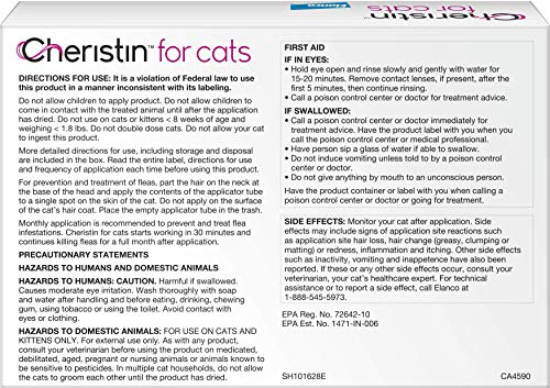 Cheristin for Cats Topical Flea Treatment - Effective Through 6 Weeks