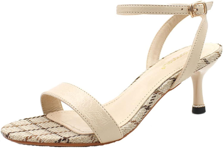 Woman Comfort favorite Buckle Stiletto Heeled Open R Oakland Mall Plaid Sandal Classic