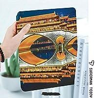 軽量版IPad ケース iPad2 ケース iPad3 ケース iPad4 ケース スタンド機能 レザー(PU) オートスリープ 傷つけ防止 2つ折タイプ iPad2/3/4世代専用スマートカバー中国の主要な人気の大きな橋記念碑的な古典的な建物の塔写真