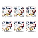 Nutribén Papillas, Desde Los 12 Meses, Trigo Y Frutas, Pack De 6 unidades x 600 g