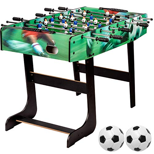 """Maxstore Tischfussball """"Belfast"""", klappbar, Farbe: Soccer, nahtlos hochgezogene Spielfeldecken, inkl. 2 Bälle, Kicker Kickertisch Tischkicker"""