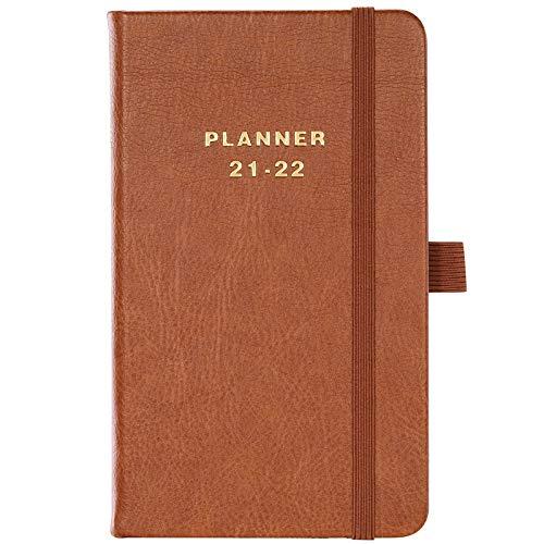 Agenda 2021 2022, A6, pequeño planificador semanal, 16 x 10 cm, calendario de bolsillo de julio de 2021 a junio de 2022, planificador para una perfecta gestión del tiempo