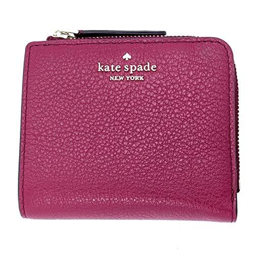 Kate Spade New York Small Windowless L-Zip Bifold Wallet Cranberrycocktail