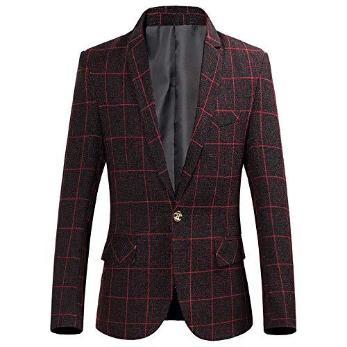 Adelina heren slim fit Sakko blazer pak jas een knoop herenkraag Fashionable Completi over de maten modern geruit pakken akko smokingsjack business bruiloft party pak outwear