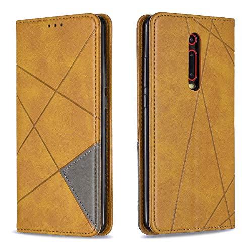 """EUDTH capa para Redmi K20/K20 Pro (Mi 9T), capa flip de couro carteira magnética com compartimento para cartão e suporte para Xiaomi Redmi K20/K20 Pro (Mi 9T) 6.39"""" - Amarelo"""